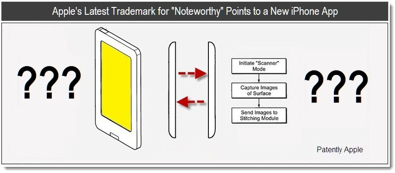 1 - Apple's Latest Trademark for Noteworthy Points to a new iPhone app - may 2011