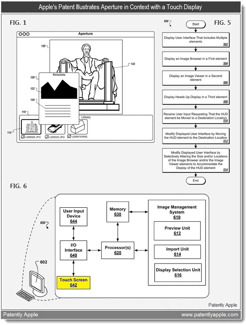 2 - Apple's patent illustratees Aperture in  context with a touch display - may 2011