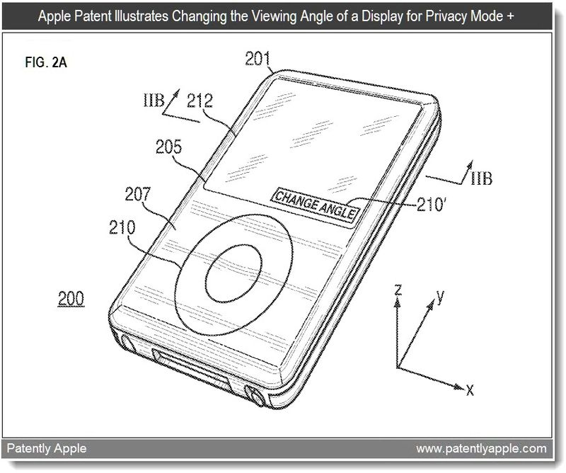 2 - Changing Angle function - Apple display patent 2011