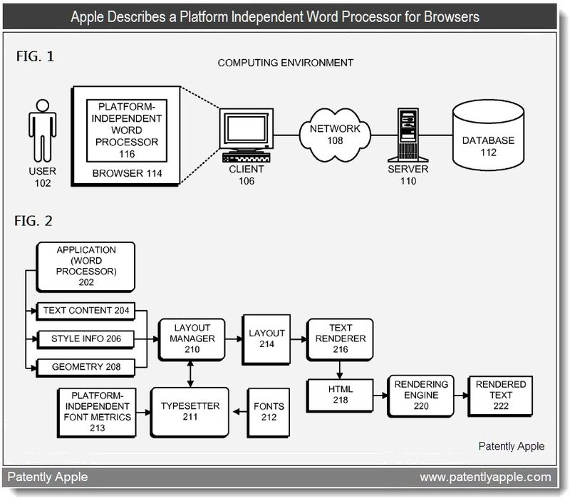 2 - Apple Describes a Platform Independent Word Processor for Browsers - May 2011