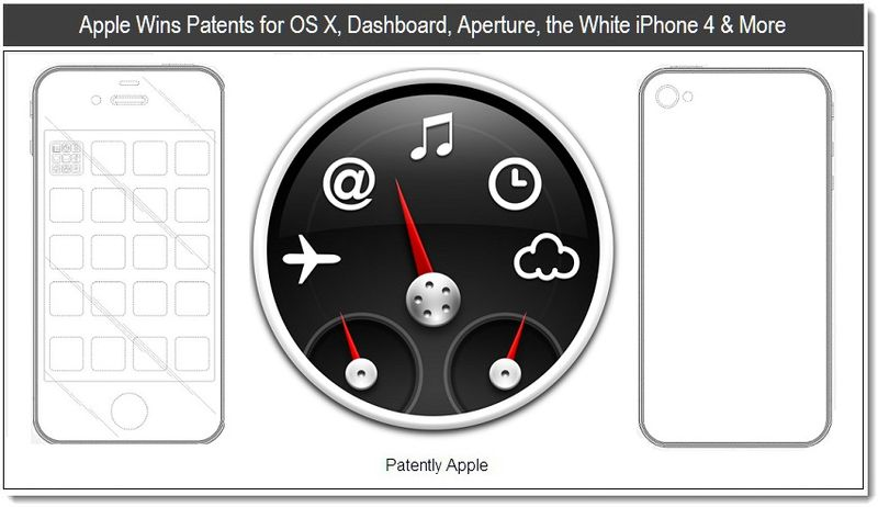 1 - Apple wins patents for osx, dashboard, aperture, the white iPhone & More - May 2011