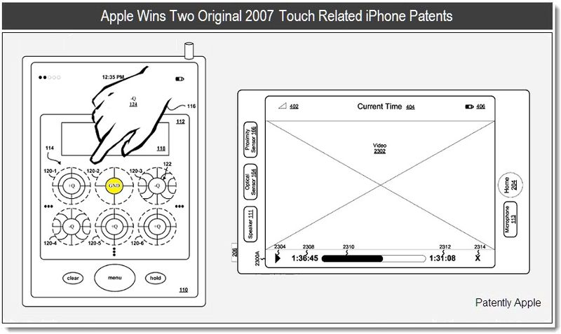 1 - Apple wins two original 2007 touch related iPhone patents - June 2011