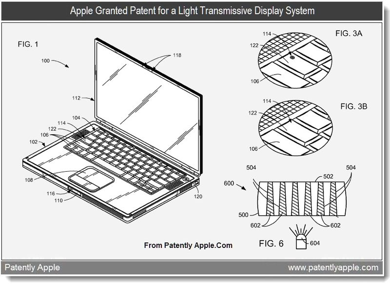 3 - Apple granted patent for a light transmissive display system - June 2011 - Patently Apple