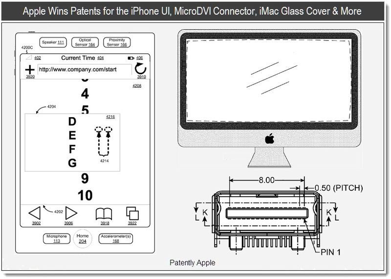 1 - Apple wins patents for the iPhone ui, microdvi, imac glass cover & more, June 2011 - Patently Apple