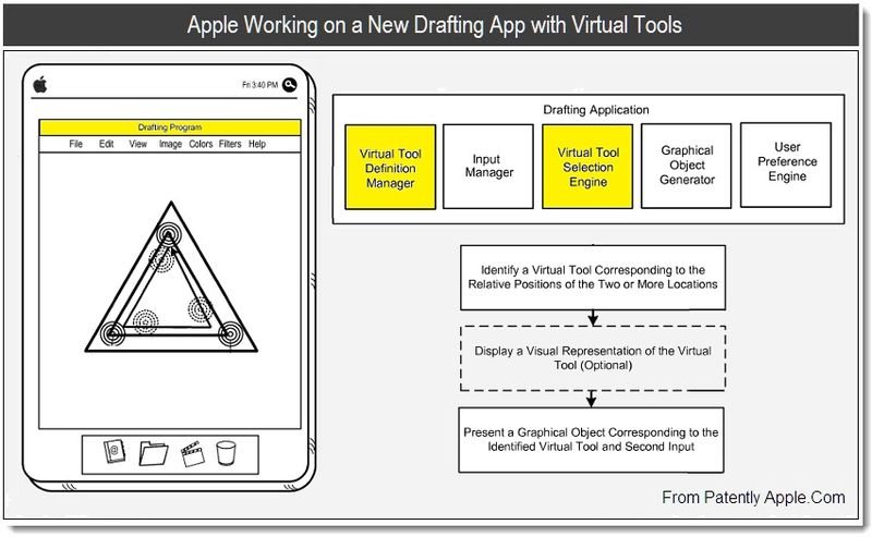 1 - Apple Working on a New Drafting App with Virtual Tools, July 2011, Patently Apple