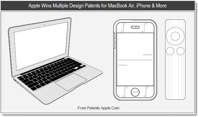 1 - Apple Wins Multiple Design Patents for MacBook Air, iPhone & More