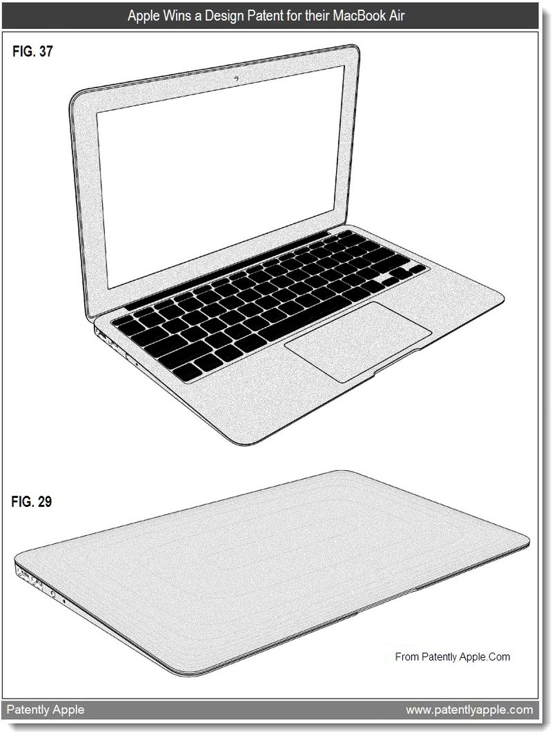 2 - Apple Wins a Design Patent for their MacBook Air, July 2011, Patently Apple
