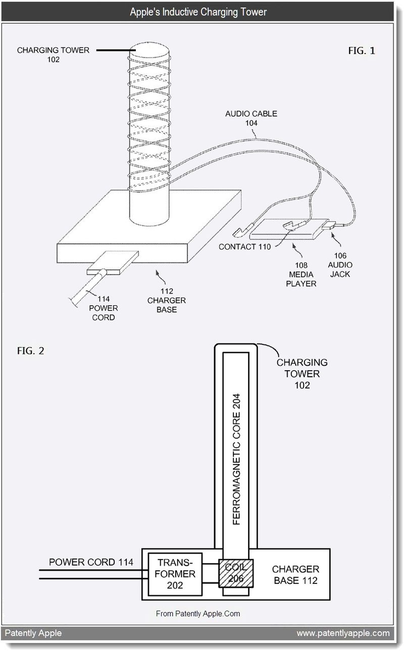 2 - Apple's Inductive Charging Tower, Aug 2011, Patently Apple