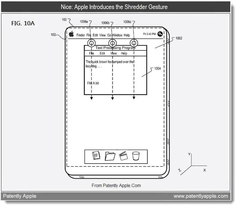4 - Apple introduces the Shredder Gesture, Aug 2011, Patently Apple