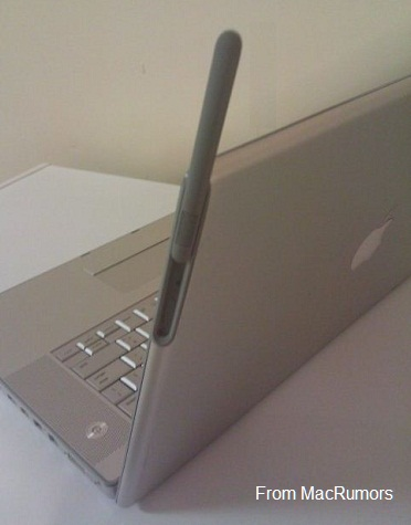 X - MacBook Pro with 3G antenna prototype, presented on MacRumors Aug 14, 2011, Patently Apple
