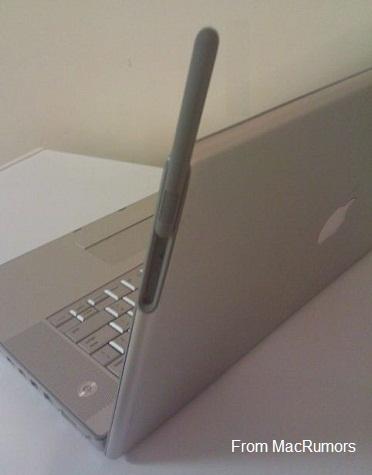 X - MacBook Pro with 3G antenna prototype, presented on MacRumors Aug 14, 2011, Patently Apple