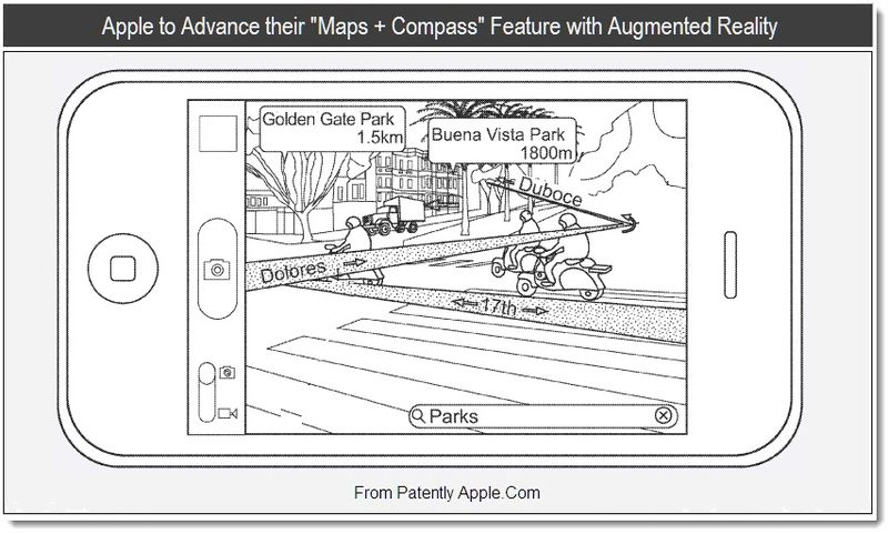 1 - Apple to Advance their Maps + Compass Feature with Augmented Reality, Aug 2011, Patently Apple