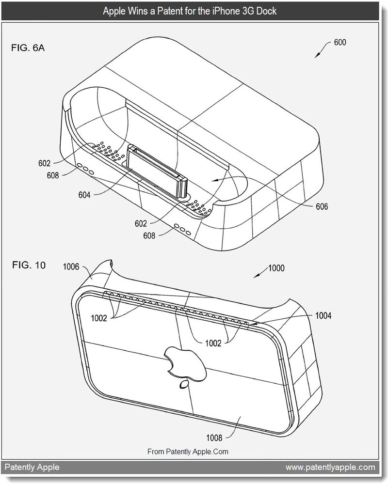 5 - Apple Wins a Patent for the iPhone 3G Dock, Aug 2011, Patently Apple