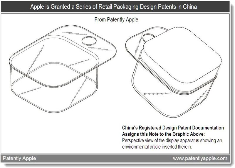 4 - Apple is granted a series of retail packaging design patents in China, Aug 26, 2011, Patently Apple Website