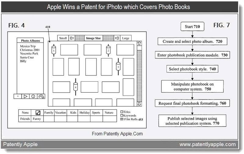 4 - Apple wins patent for iPhoto which covers Photo Books, Sept 2011, Patently Apple Blog