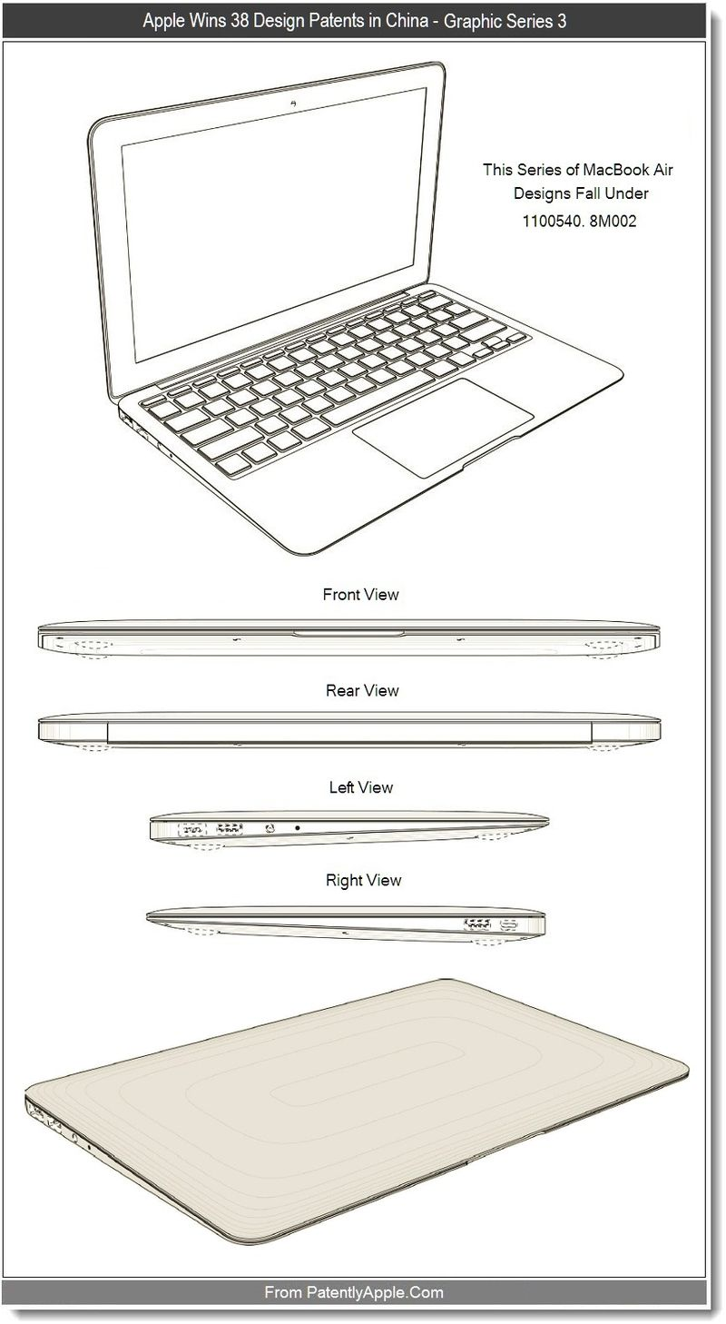 4 - Apple wins 38 design patents in china - graphic series 3, Sept 2011, Patently Apple blog