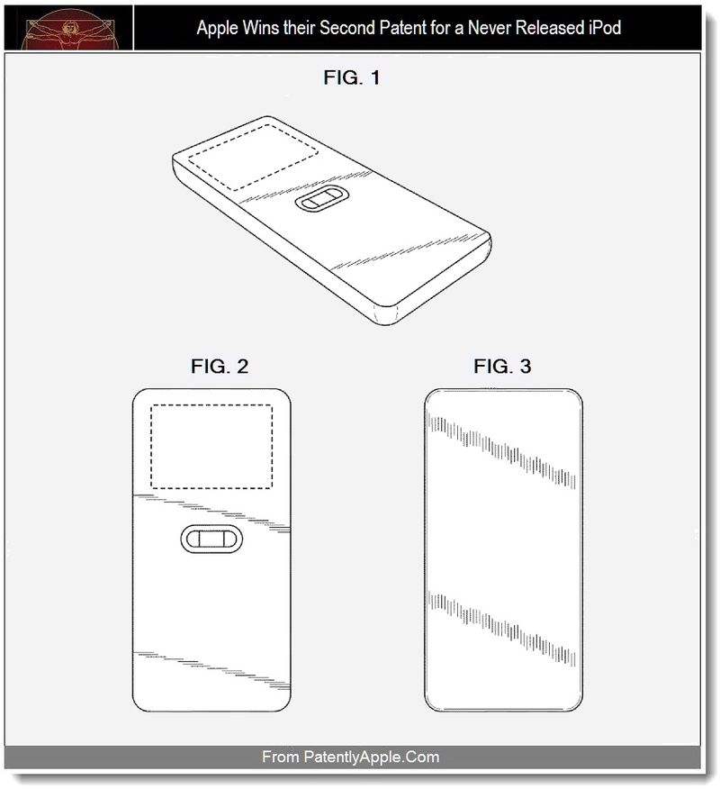 4 - Apple Wins their Second Patent for a Never Released iPod, Sept 2011, Patently Apple