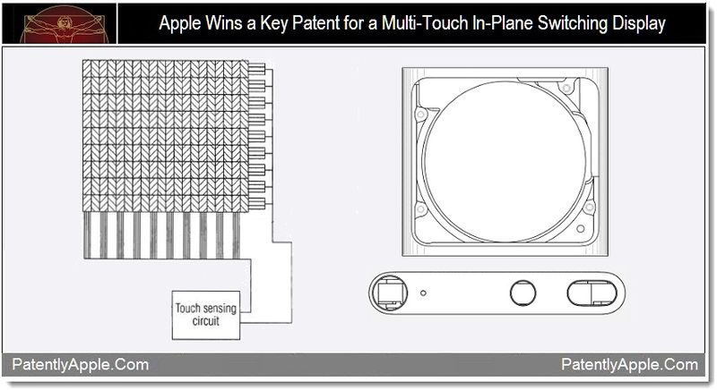 1 - Apple wins a key patent for a multi-touch in-plane switching display