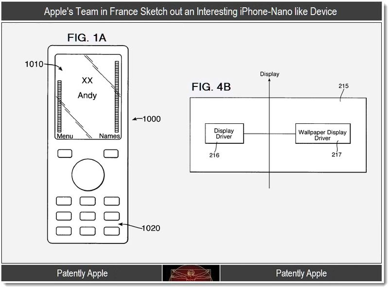 4 -Extra - Apple's Team in France Sketch out an iPhone-Nano like Device