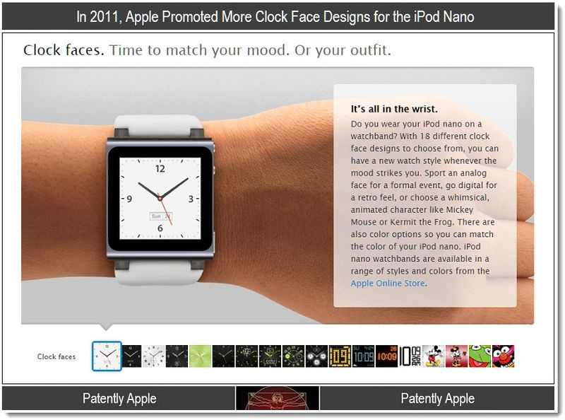 3 - Apple promoted more clock faces for the iPod nano in 2011