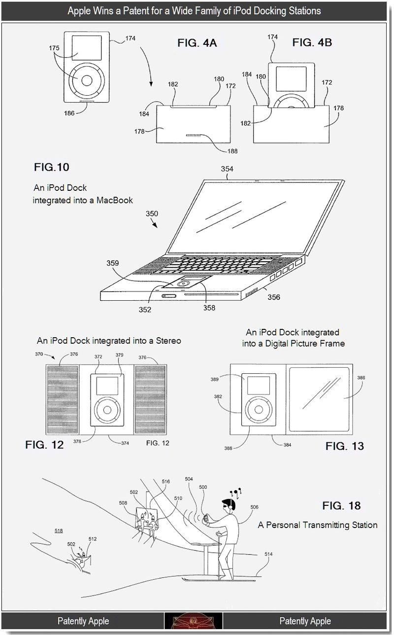 2 - Apple wins a patent for a wide range of ipod docks