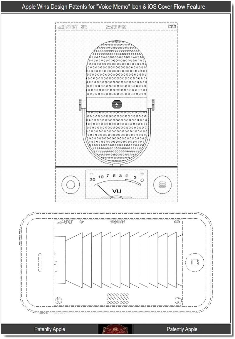3 - Apple design wins for voice memo + cover flow
