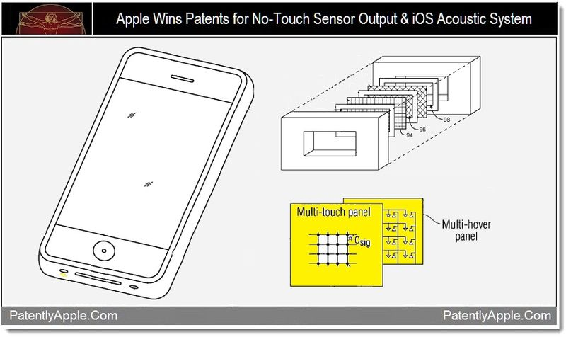 1 - apple wins no-touch sensor output & iOS Acoustic System patents