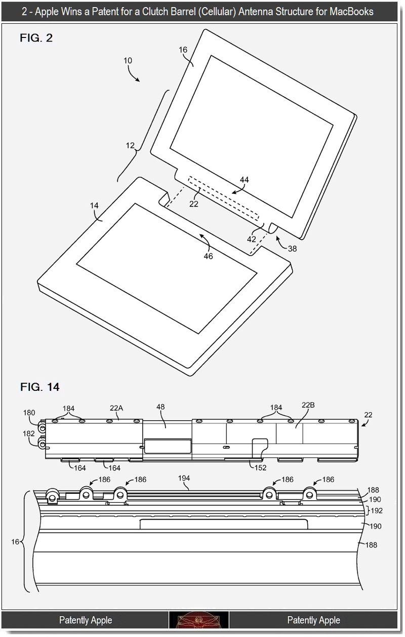 3 - 2 - Apple wins clutch barrel antenna structure for MacBooks, re cellular