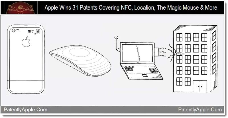 1 - Apple Wins 31 Patents Covering NFC, Location, The Magic Mouse & More