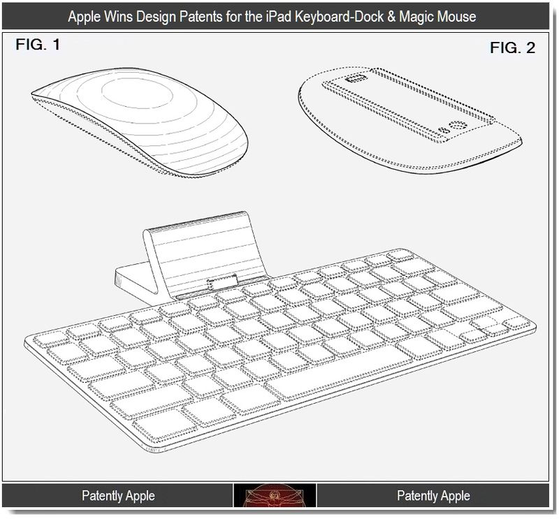 5 - Apple Wins Design Patents for the iPad keyboard Dock & Magic Mouse