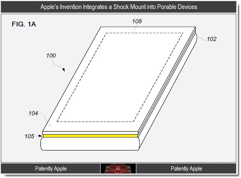 2 - Apple integrates a shock mount into portable devices