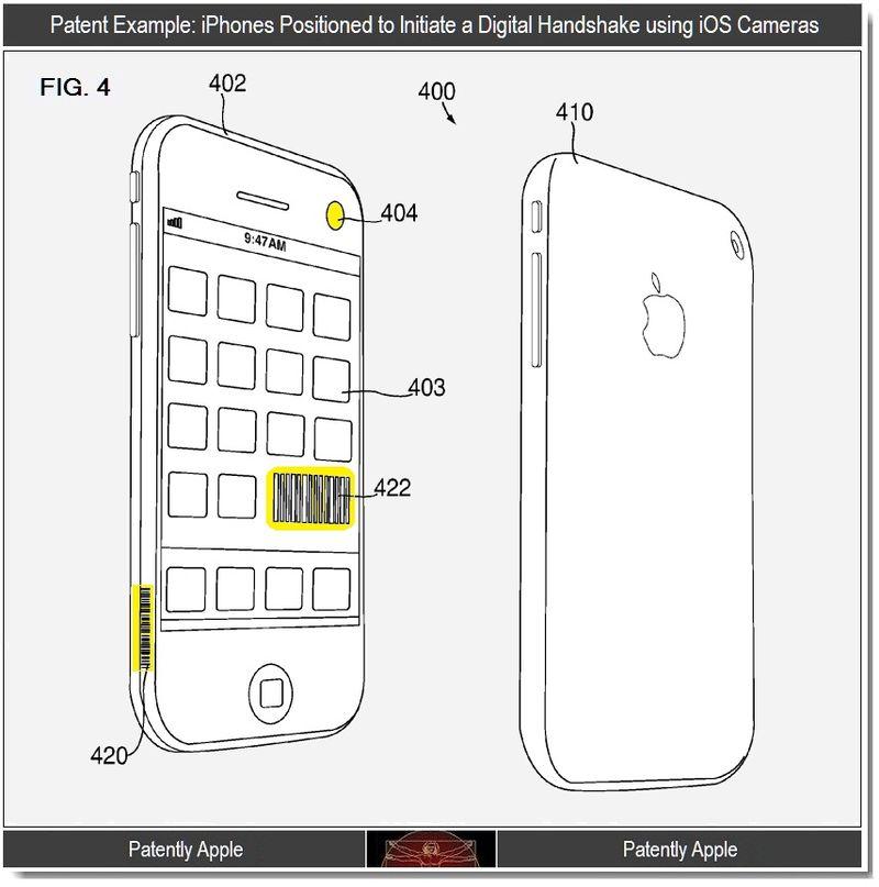 2 - iphones initiating digital handshake using iOS Cameras
