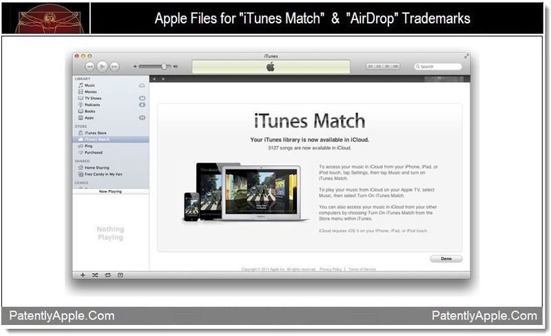 1 - Apple files for iTunes Match & AirDrop Trademarks