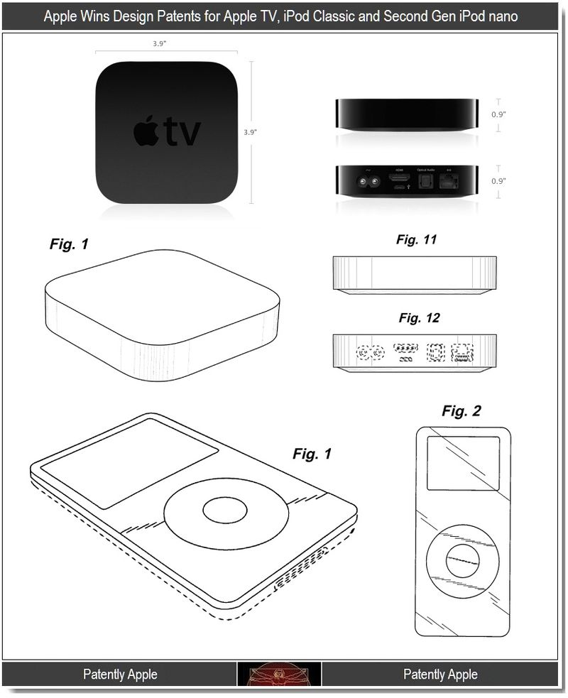2 - Apple wins design patents for Apple TV, iPod Classic, iPod nano