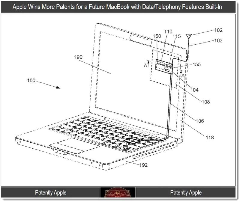 2 -  future macbooks with data and telephony features built-in