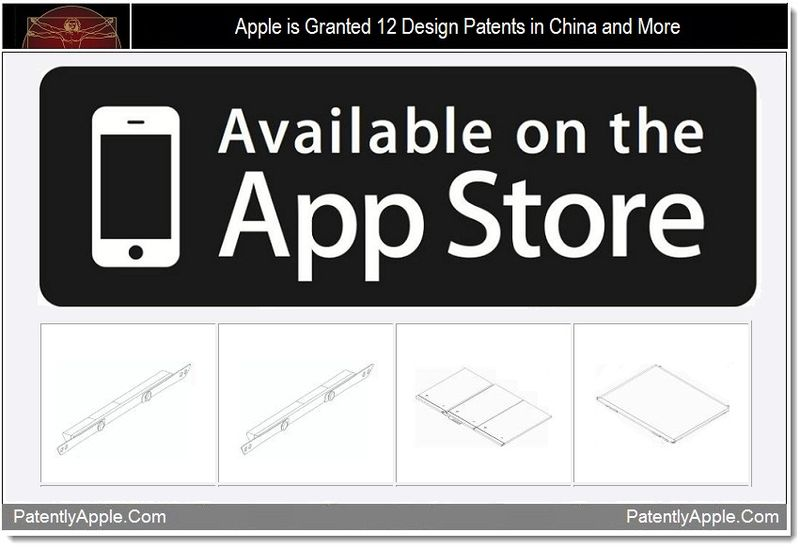 1 - Apple is Granted 12 Design Patents in China and More