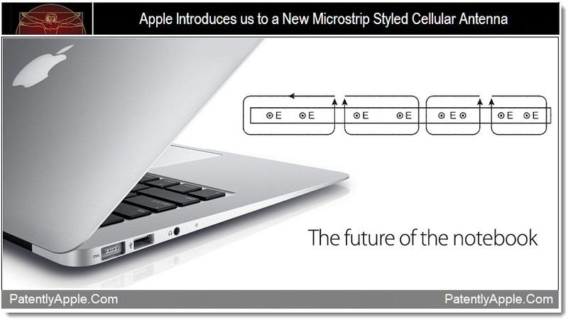 1 - Apple introduces us to a New Microstrip Styled Cellular Antenna