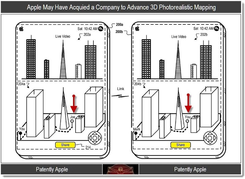 1 -  Apple ...acquired a company to advance 3D photorealistic mapping