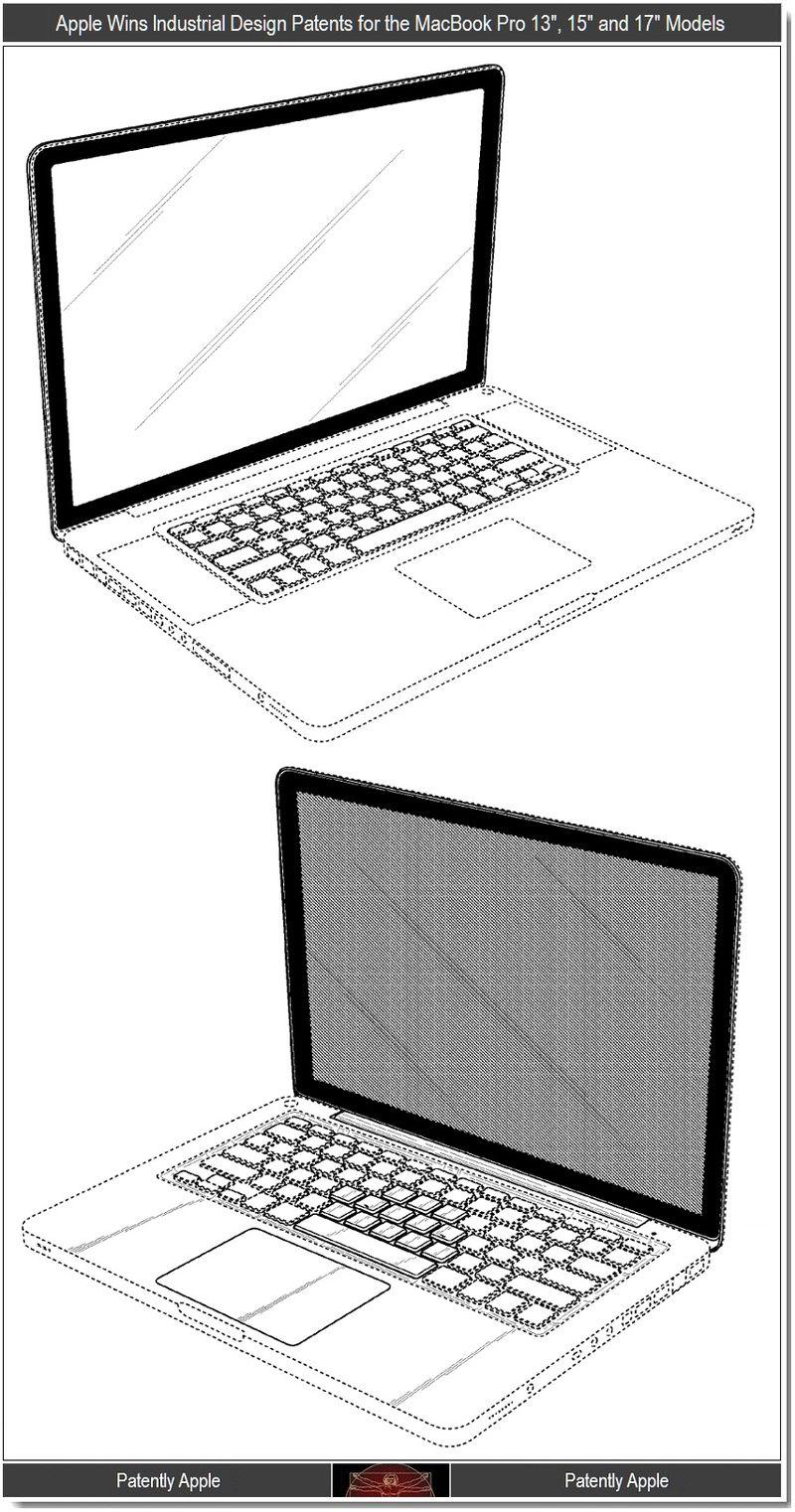 2 - Apple MacBook Pros 13, 15, 17 Design Patent Wins