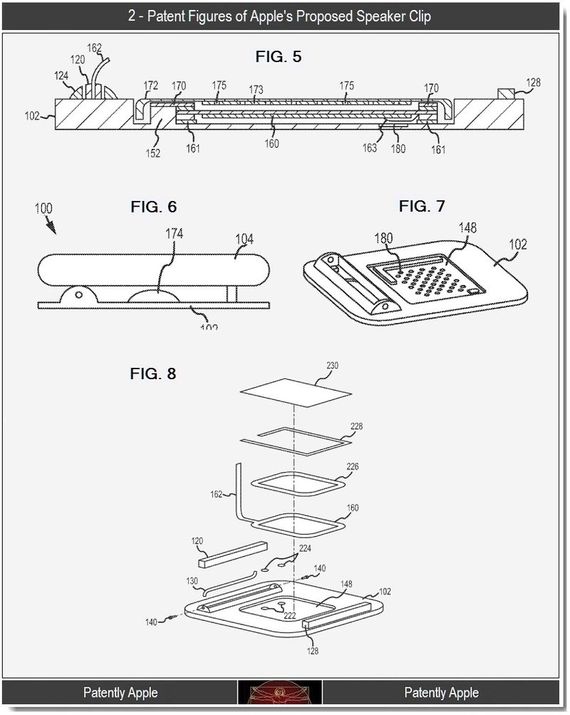 3 - patent figures 2, for speaker clip, Apple 2011