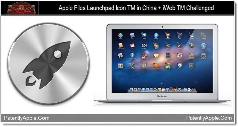 1 - Apple files launchpad Icon in China + iWeb TM Challenged