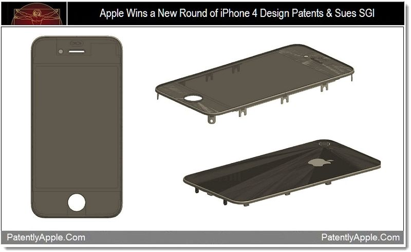 1 - Apple wins a new round of iphone 4 design patents & sues SGI