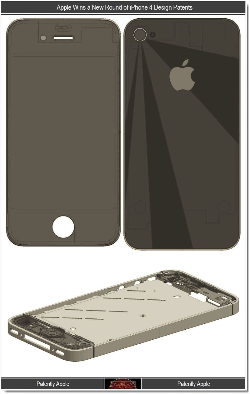2 - Apple wins new round of iPhone 4 design patents - 1