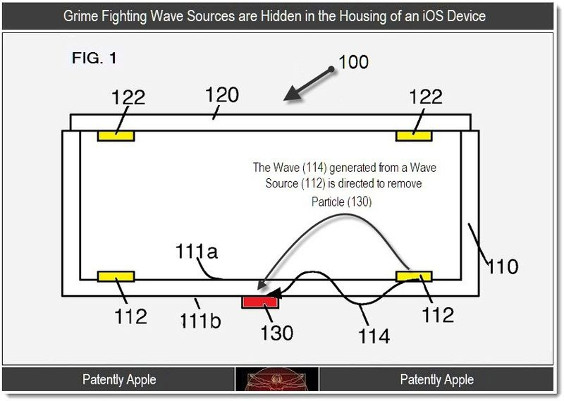 2 - Grime Fighting Wave Sources are Hidden in the housing of an iOS device