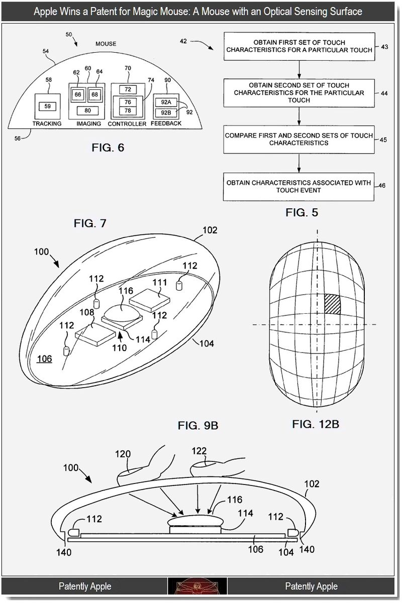 3 - Apple patent - a mouse with an optical sensing surface