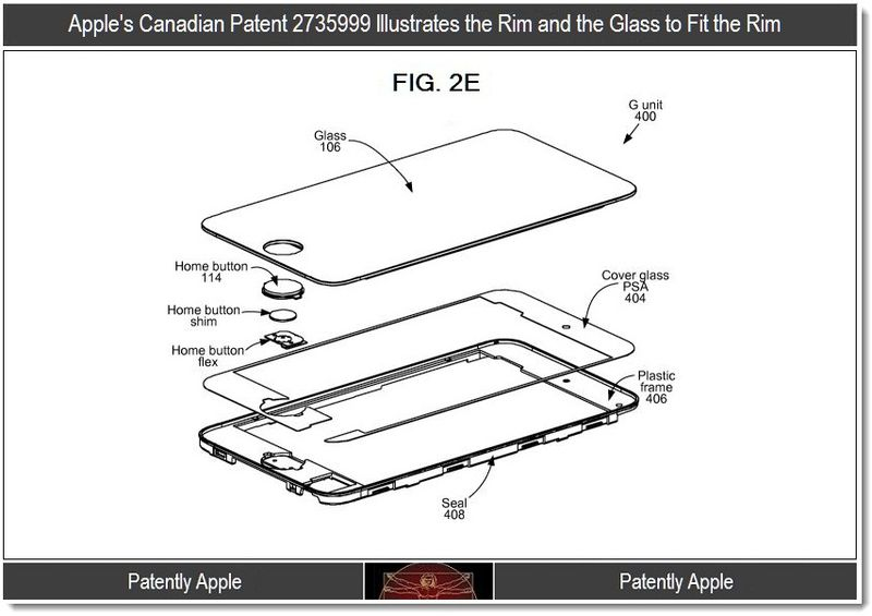 Xtra - Apple's Canadian patent 2735999 for iPhone assembly