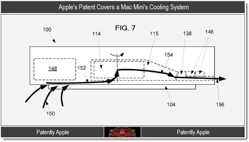 5 - Apple's Mac Mini patent for it's cooling system