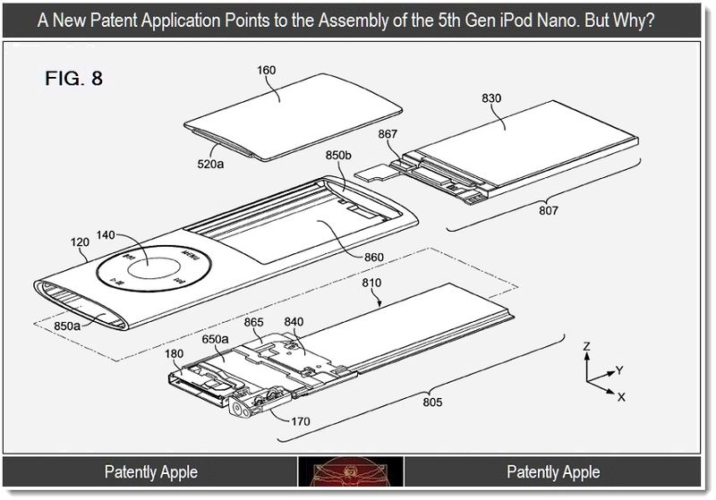 6 - A New patent for asssembly of 5th gen iPod nano. but why
