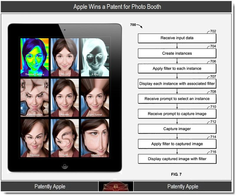 4 - Apple Wins a Patent for Photo Booth, 2011
