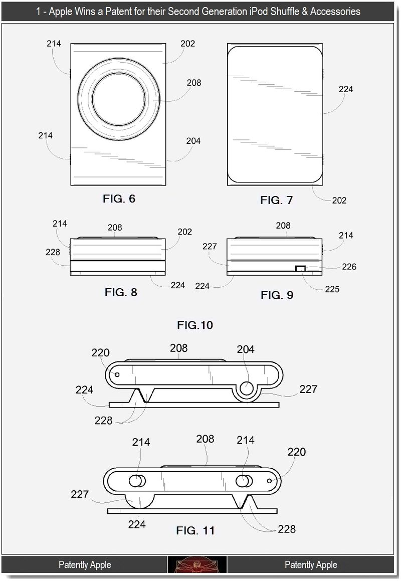 4 - Apple Wins patent for 2nd gen iPod shuffle & accessories